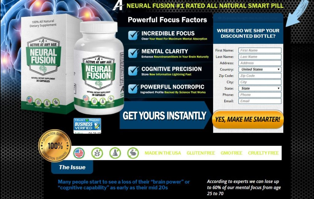 Neural Fusion Brain Supplement - Is This Pills Really Make You Smarter